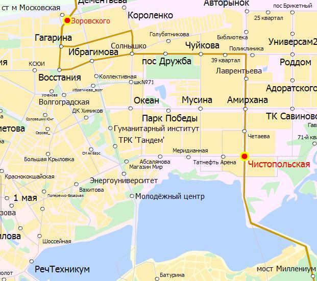 Схема проезда от Северного